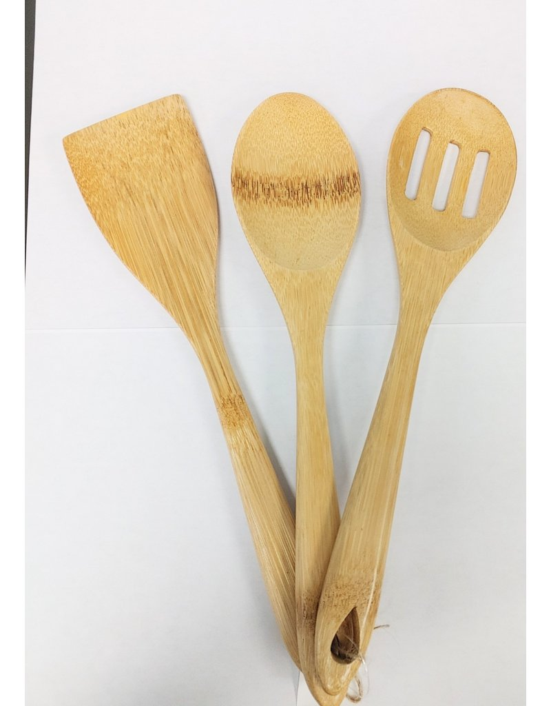 Bamboo Cooking Utensils - Set of 3