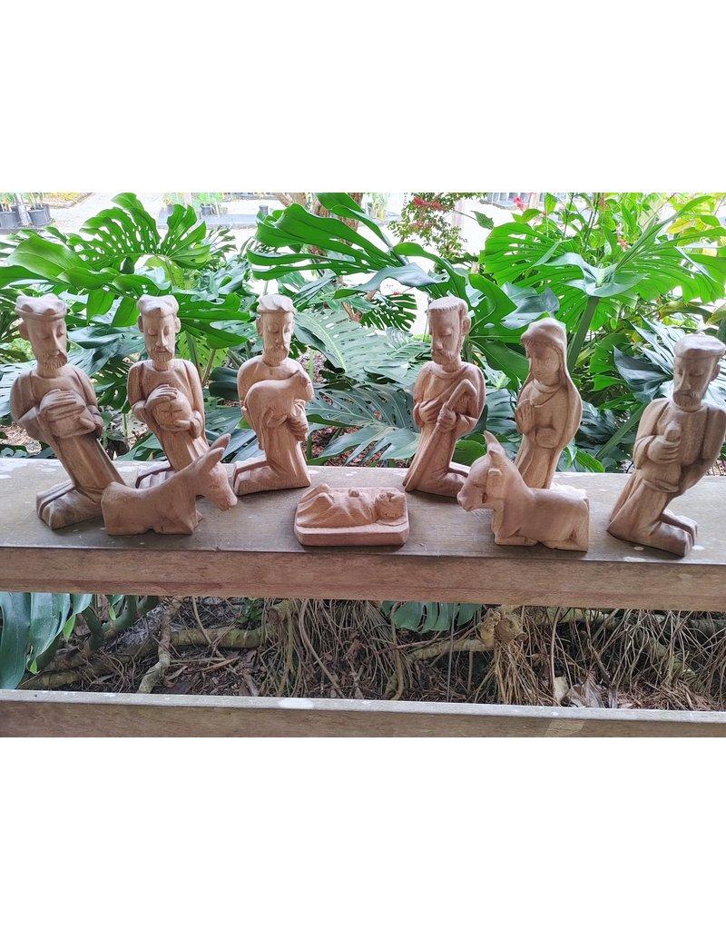 Wooden Nativity - 9 piece
