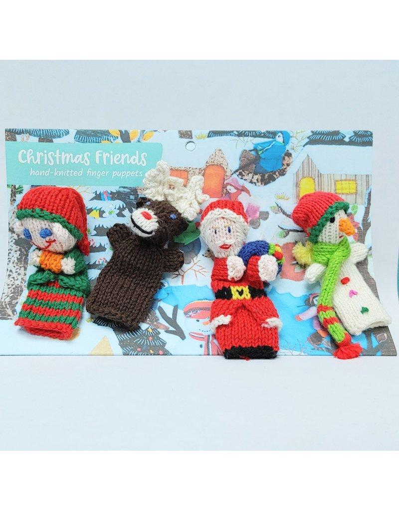Finger Puppets - Christmas Friends, Organic Cotton