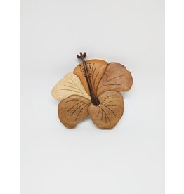 Wall Hanging - Wooden Single Hibiscus - Cambodia