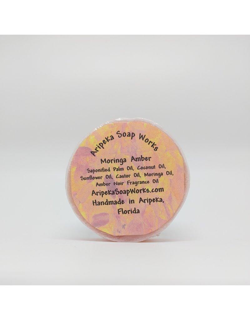 Soap - Moringa Amber, round