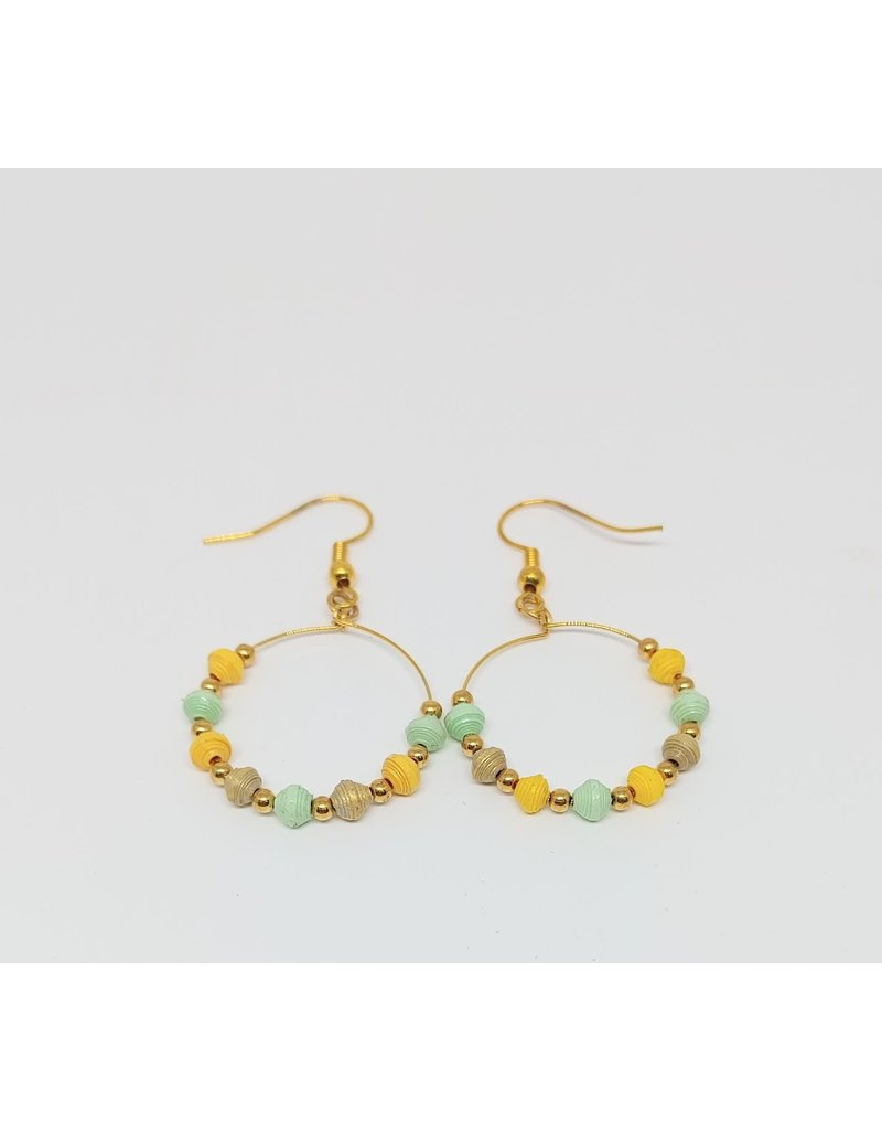 Earrings - Microbead Hoop Assortment / Gold