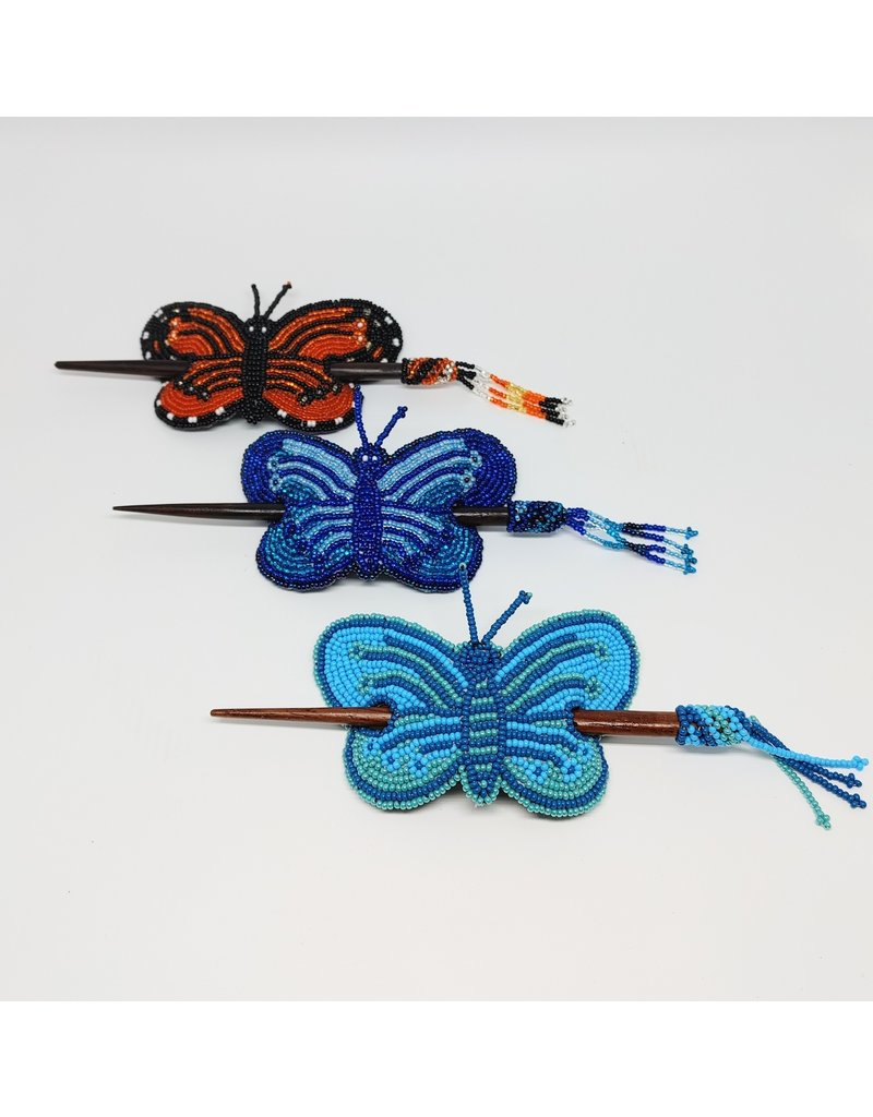 Barrette with Wooden Rod