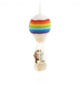 Ornament - Aeronaut Hedgehog Crocheted