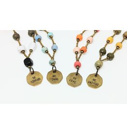 Necklace - Inspirational Coin, assorted
