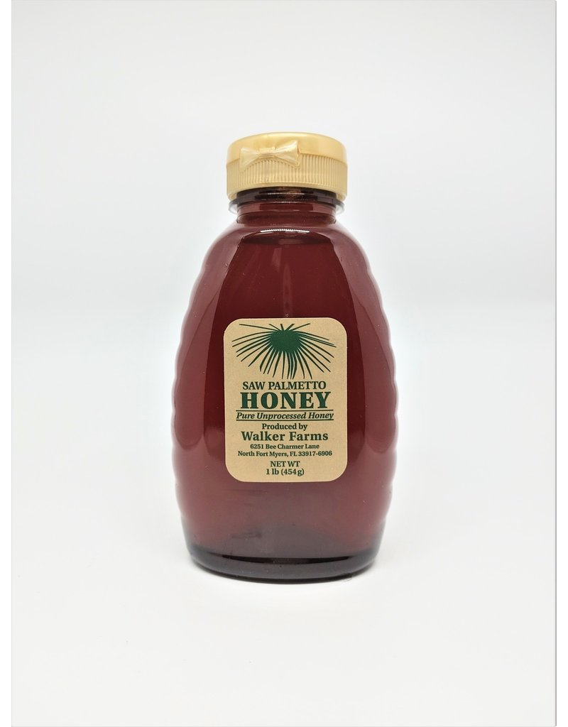 Honey - Saw Palmetto, 1lb Glass