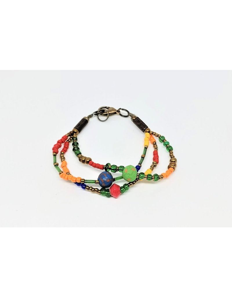Bracelet - Calliope Multistrand Multicolor