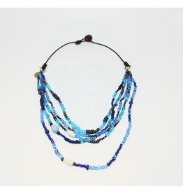 Necklace - Calliope Multistrand Blue