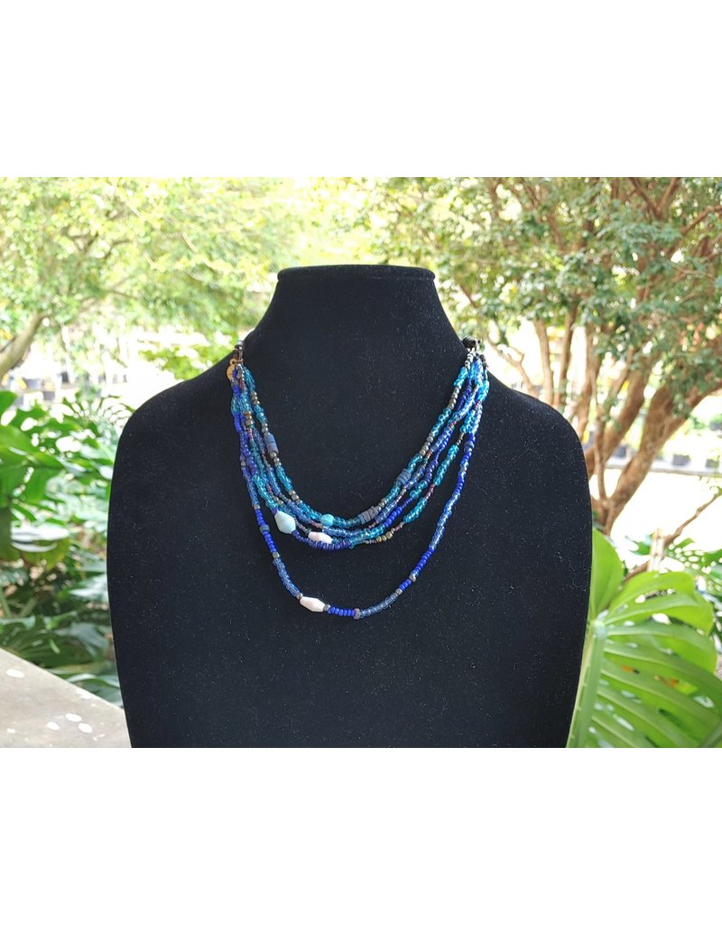 Necklace - Calliope Multistrand Blue