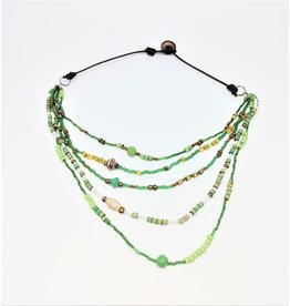 Necklace - Calliope Multistrand Green