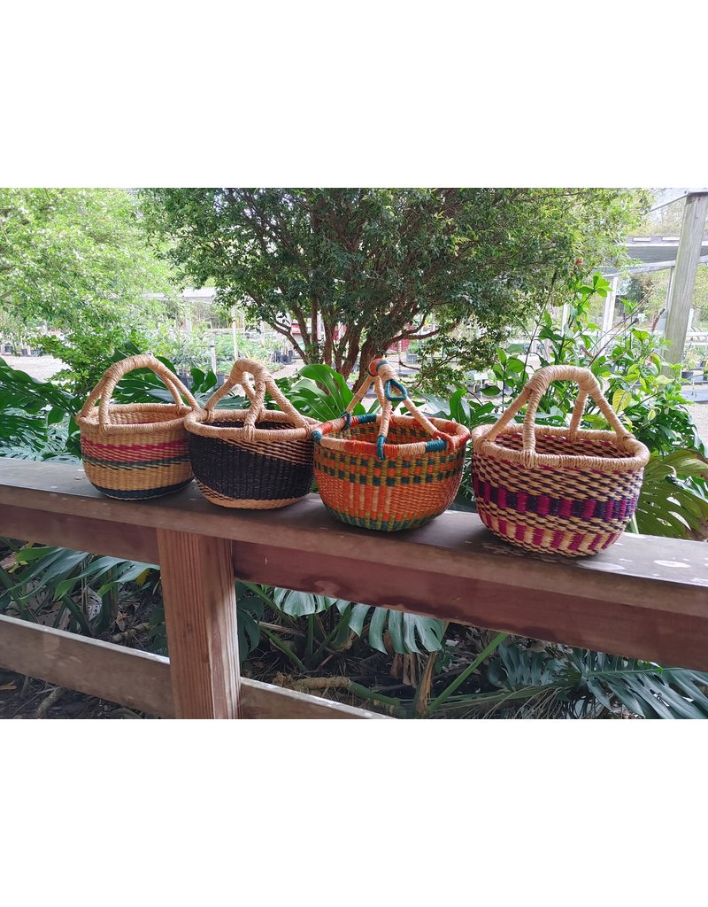 Mini Basket  with Woven Grass Handle