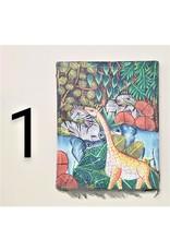 Painting, Animals on Wooden Frame, Haiti