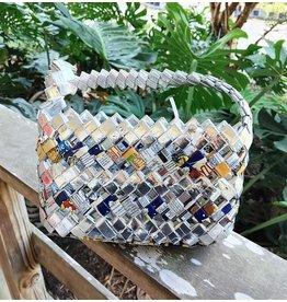 Recycled Snack Bag Purse, Large - Haiti
