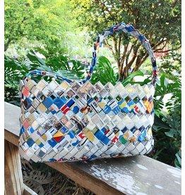 Recycled Snack Bag Purse, Medium - Haiti