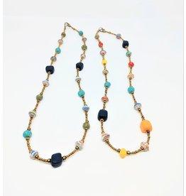 Necklace - Paper And Mini Ceramic