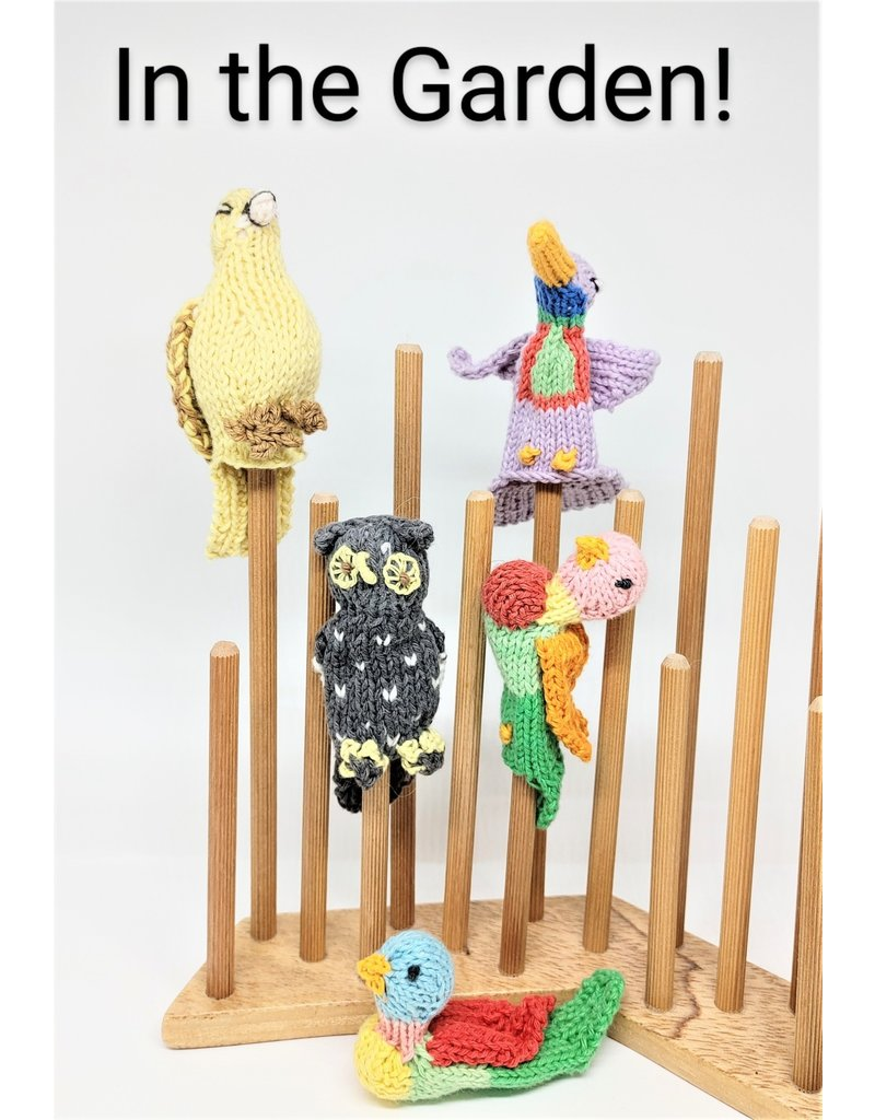 Finger Puppet - Animal Mix, Naturally Dyed Organic Cotton