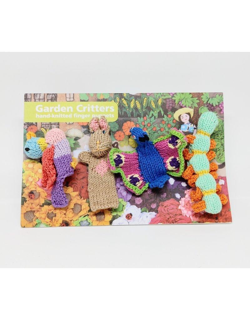 Finger Puppets - Garden Critters, Organic Cotton
