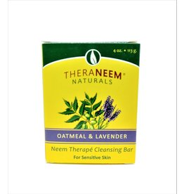 TheraNeem Neem Soap - Oatmeal Lavender
