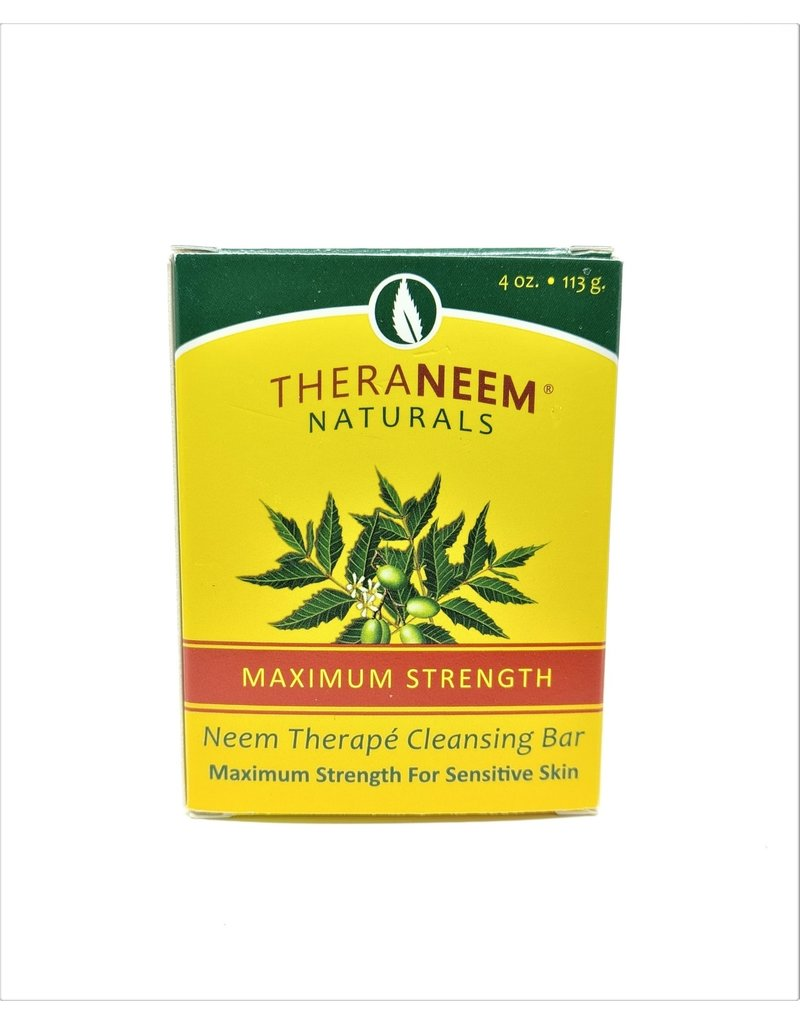 TheraNeem Neem Soap - Maximum Strength Sensitive Skin Neem Bar
