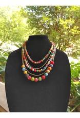 Necklace - Five-Strand Sari Bead