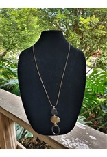 Necklace - Natural Oval Pendant
