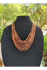 Necklace - Wood Seed Bead
