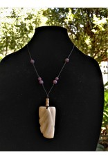 Necklace - Carved Horn, Haiti