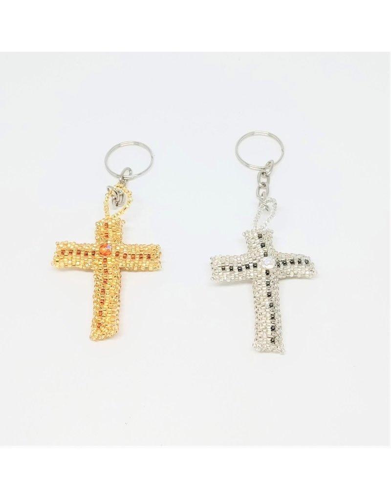 Keychain - Beaded Cross
