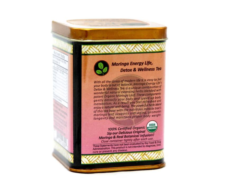 Moringa Energy Tea, Detox & Wellness