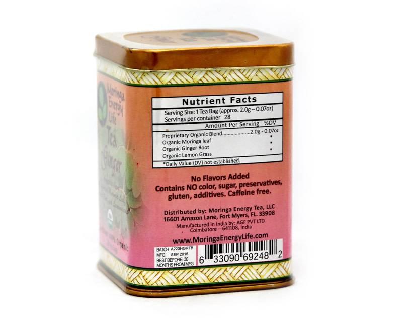 Moringa Energy Tea, Ginger