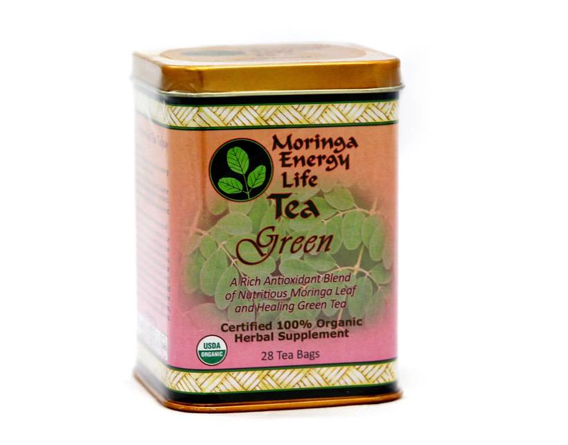 Moringa Energy Tea Green in Tin