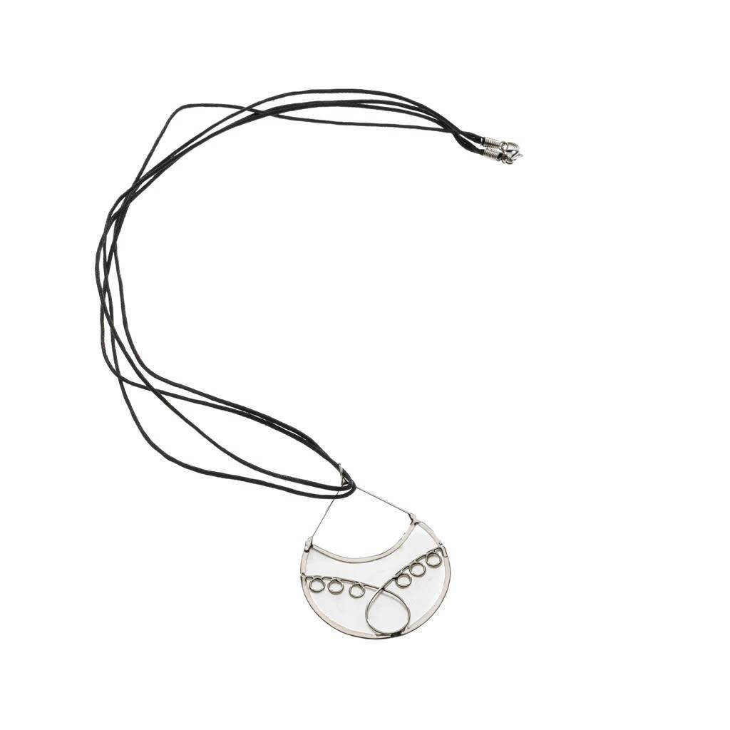 Necklace - Capiz Filigree Tear