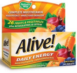 Vitamins For Energy >> Alive Daily Energy Vitamins 60 Tablets