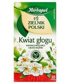 HERBAPOL Zielnik Polski Kwiat Głogu Herbata 20 sasz