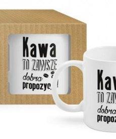 """BGTECH ECO Kubek Boss """"Kawa to Zawsze Dobra Propozycja"""" 300ml"""