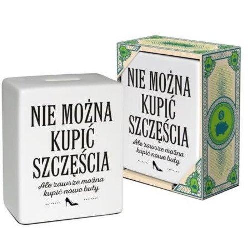 """BGTECH Skarbonka Kostka """"Nie Mozna Kupic Szczescia"""""""
