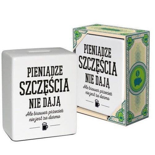 """BGTECH Skarbonka Kostka """"Pieniadze Szczescia Nie Daja"""""""