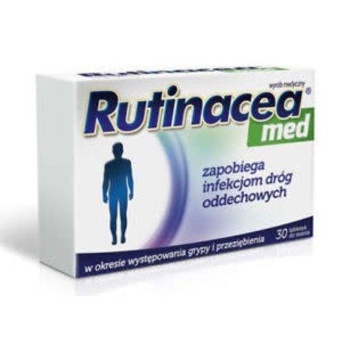 AFLOFARM RUTINACEA MED Zapobiega Infekcji Drog Oddechowych 30 tabl do ssania