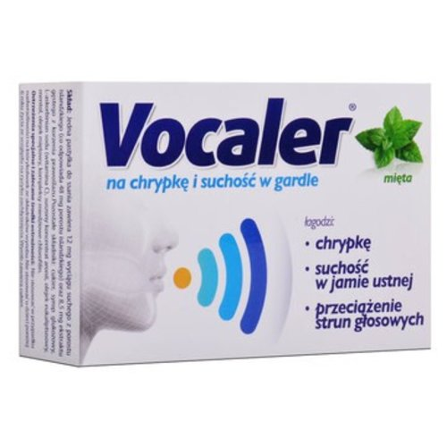 AFLOFARM VOCALER- Na Chrypkei Suchosc w Gardle Mieta 12 past do ssania