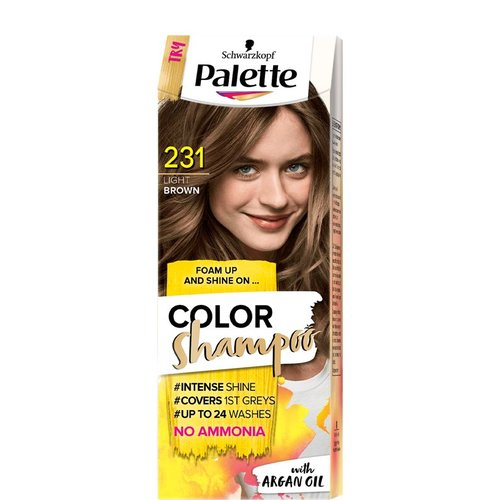 SCHWARZKOPF PALETTE- Color Shampoo With Argan Oil 231 Jasny Braz
