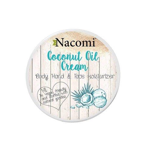 Nacomi Coconut Oil Cream Krem na Bazie Oleju Kokosowego Do Ciala Rak i Twarzy 100ml