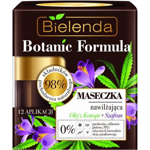 BIELENDA Botanic Formula Maseczka Nawilzajaca Do Twarzy Olej z Konopi + Szafran 50ml