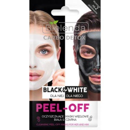 BIELENDA Carbo Detox Black & White Peel - Off Oczyszczajace Maski Weglowe 2x6g