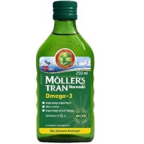 MOLLERS Tran Norweski Omega-3 Aromat Naturalny 250ml