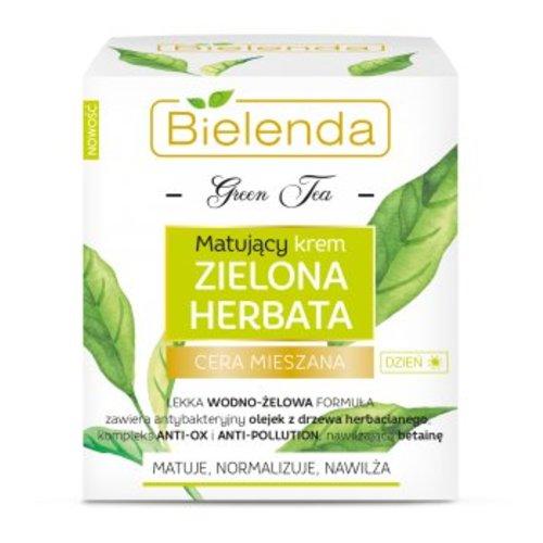 BIELENDA Matujacy Krem Zielona Herbata Cera Mieszana 50ml