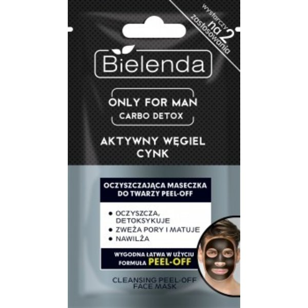 BIELENDA Only For Men Carbo Detox Aktywny Wegiel Maseczka Peel-off 2x6g