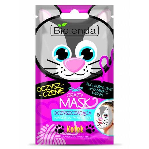 BIELENDA Crazy Mask Oczyszczajaca Maska w Placie 3D Kotek