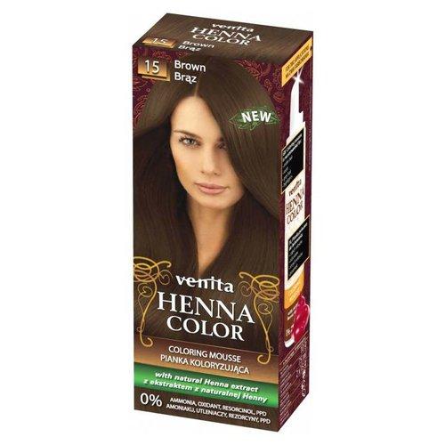 VENITA Henna Color Pianka Koloryzujaca do Wlosow 15 Ciemny Braz