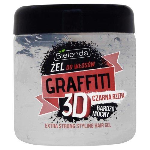 BIELENDA Zel Do Wlosow Graffiti Bardzo Mocny Czarna Rzepa 250g