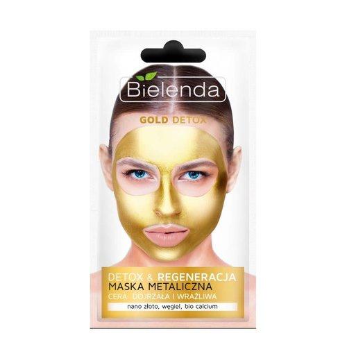 BIELENDA Gold Detox Maska Metaliczna 8g